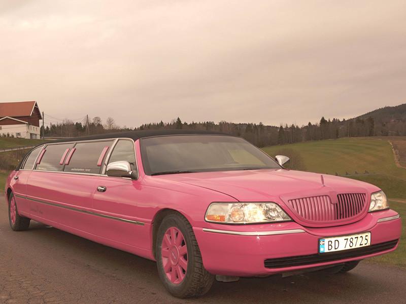Lincoln Towncar, Pink Limousine, Rosa Limo